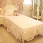 プリマベーラ シングルベッド 薔薇の彫刻 ウッドヘッド ホワイトのサムネイル