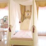 ラ・シェル 天蓋付きベッド シングルサイズ ホワイト色のサムネイル
