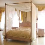 ラ・シェル 天蓋ベッド クィーンサイズ ピンクベージュのサムネイル