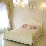 レディメイ ダブルサイズベッド 薔薇&バレエシューズの彫刻 ホワイト色のサムネイル