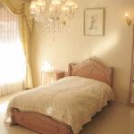 ラ・シェル シングルサイズベッド シェルの彫刻 イニシャルT フットボード シェルの彫刻 ピンクベージュ色のサムネイル