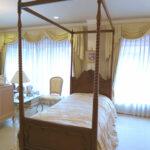 ラ・シェル 天蓋ベッド シングルサイズ マイエル色 キャノピースクエアのサムネイル