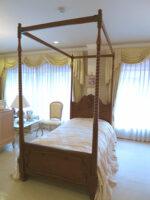 ラ・シェル 天蓋ベッド シングルサイズ マイエル色 キャノピースクエア