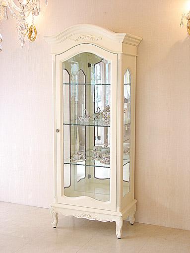 ラ・シェル ショーケース オードリーリボンの彫刻 ホワイト色