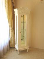 ラ・シェル ショーケース W45×D32×H150 ビバリーヒルズの彫刻 ホワイト色