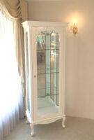 ビバリーヒルズ ショーケース オードリーリボンの彫刻 ホワイトグロス色