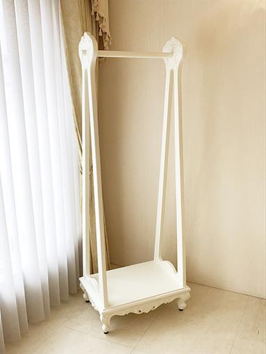 ハンガーラック ビバリーヒルズの彫刻 ホワイト色