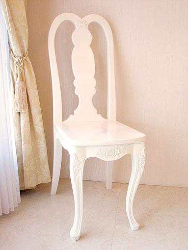 プリマベーラ 薔薇の彫刻 クィーンアンチェア ホワイト色