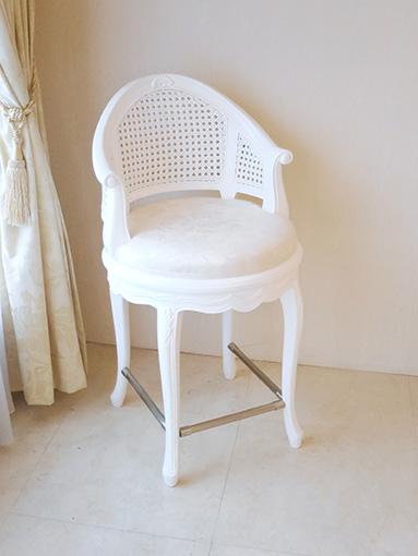 フランスチェア SH56cm スーパーホワイト色