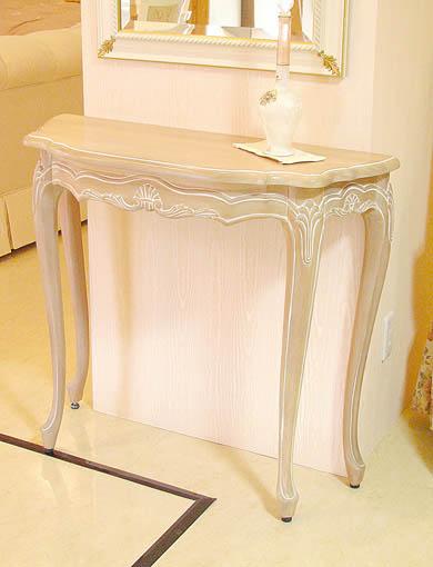 ラ・シェル コンソール W900 ピンクベージュ色
