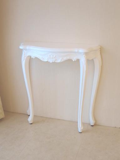 ラ・シェル コンソール ビバリーヒルズの彫刻 スーパーホワイト色 W80×D25