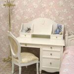 レディメイ 学習机 バレエシューズの彫刻 ホワイトのサムネイル