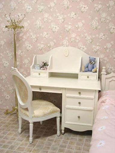 レディメイ 学習机 バレエシューズの彫刻 ホワイト