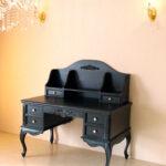 プリマヴェーラ デスク 薔薇の彫刻 マットブラック色のサムネイル