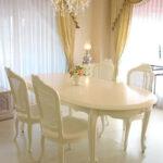ラ・シェル ダイニングテーブル 200 リボンの彫刻 ホワイト色のサムネイル