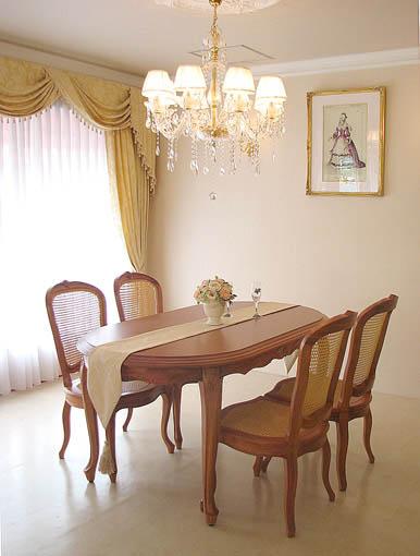 ラ・シェル ダイニングテーブル 160 マイエル色(蜂蜜色)