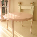 ビバリーヒルズ ラウンドテーブル120 バービーピンク色のサムネイル