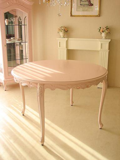 ビバリーヒルズ ラウンドテーブル120 バービーピンク色