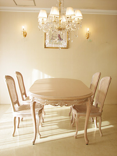ラ・シェル ダイニングテーブル200 ビバリーヒルズの彫刻
