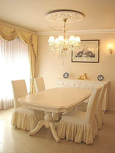 ベルサイユ ダイニングテーブル W2100×D1100×H720 マダム・ココ色