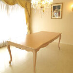 ビバリーヒルズ ダイニングテーブル W2000×D1000 ピンクベージュ色のサムネイル