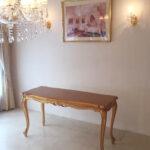 ビバリーヒルズ ダイニングテーブル W130 D54 H73 金箔仕上げ ブロンズゴールド色のサムネイル