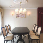 ベルサイユ ダイニングテーブル 伸長式190-238cm ブラウン色のサムネイル
