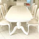 ベルサイユ ダイニングテーブルW240cm スーパーホワイト色のサムネイル