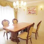 アフロディーテ ダイニングテーブル W180 天然石オニキス天板 マーブルブラウン色のサムネイル
