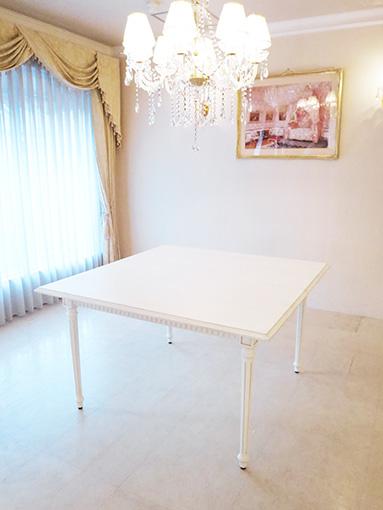マダム・ココ ダイニングテーブル 伸張式 W120-W160