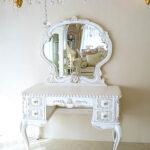 ドレッサー クラシックスタイル 一面鏡 シェルとクラウンイニシャルの彫刻 マダム・ココ色のサムネイル