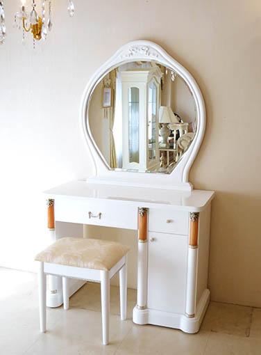 アフロディーテ ドレッサー オードリーリボンの彫刻 スーパーホワイトグロス色