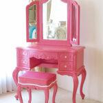 ビバリーヒルズ ドレッサー ショッキングピンク色 ショッキングピンクのベルベット クリスタルのつまみのサムネイル