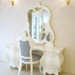 ドレッサー ロココスタイル ホワイト色のサムネイル