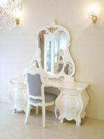 ドレッサー ロココスタイル ホワイト色