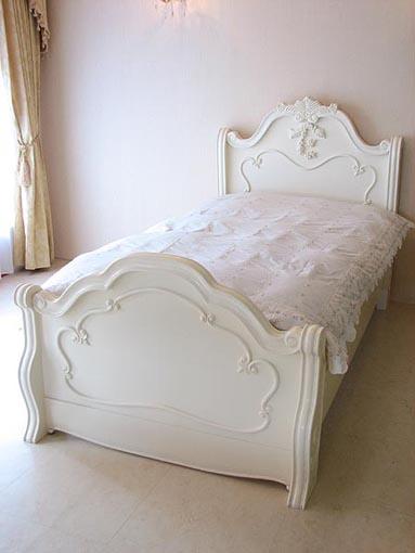 ラ・シェル ベッド セミダブルサイズ ホワイト