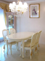 ラ・シェル ダイニングテーブル 160 ホワイト