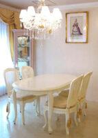 ラ・シェル ダイニングテーブル180 ホワイト色