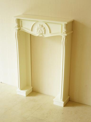 マントルピース シェル ミニチュアサイズ ホワイト色 W54cm×D14cm×H73cm