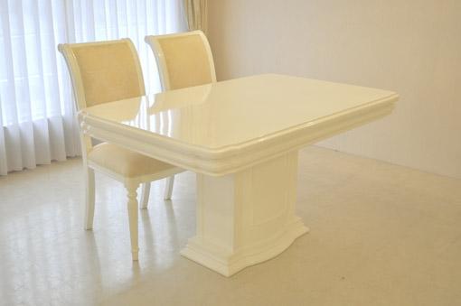 アフロディーテ ダイニングテーブル W140cm 1本脚 彫刻装飾
