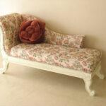 バラの令嬢ソファ ホワイトの猫脚 薔薇柄のサムネイル
