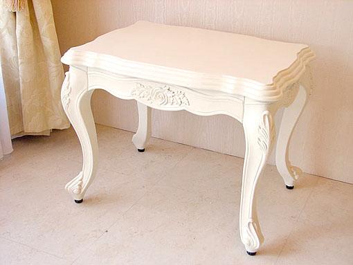 ビバリーヒルズ サイドテーブル 薔薇の彫刻