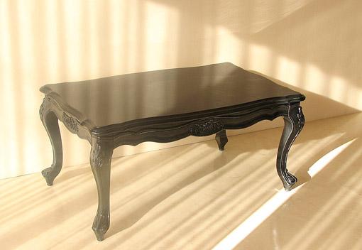 サマンサ センターテーブル 薔薇の彫刻 W100×D600