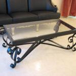 アイアンセンターテーブル アイーダ ブラック色のサムネイル