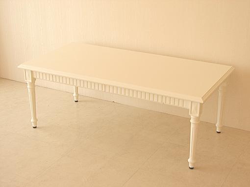 マダム・ココ センターテーブル 引出し付 ホワイト色