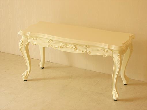 ビバリーヒルズ センターテーブル 引出し付 オードリーリボンの彫刻 W90×D40
