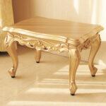 ビバリーヒルズ サイドテーブル 引出し付 ゴールド色 W54×D40×H35のサムネイル