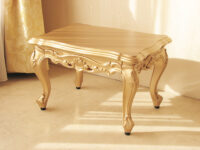ビバリーヒルズ サイドテーブル 引出し付 ゴールド色 W54×D40×H35