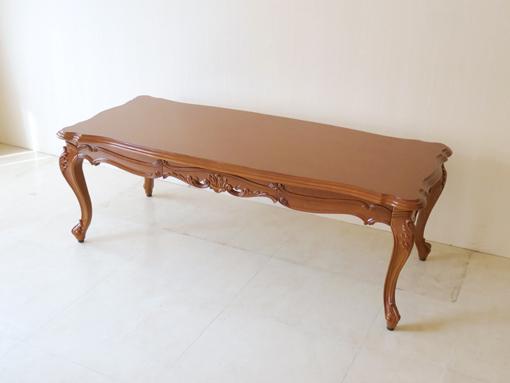 ビバリーヒルズ センターテーブル 引出し付き W130×D56(cm) マイエル色
