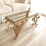 アイアン センターテーブル アイーダ W100×D50cm ゴールド色のサムネイル